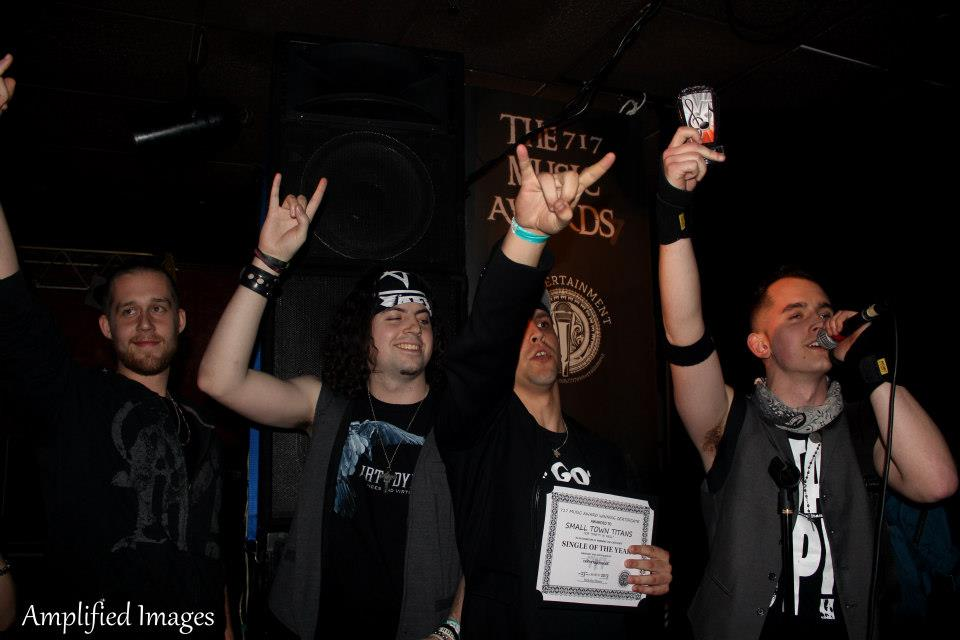 Small Town Titans accept the award for Single of The Year.  *Photo Credit: Amplified Images