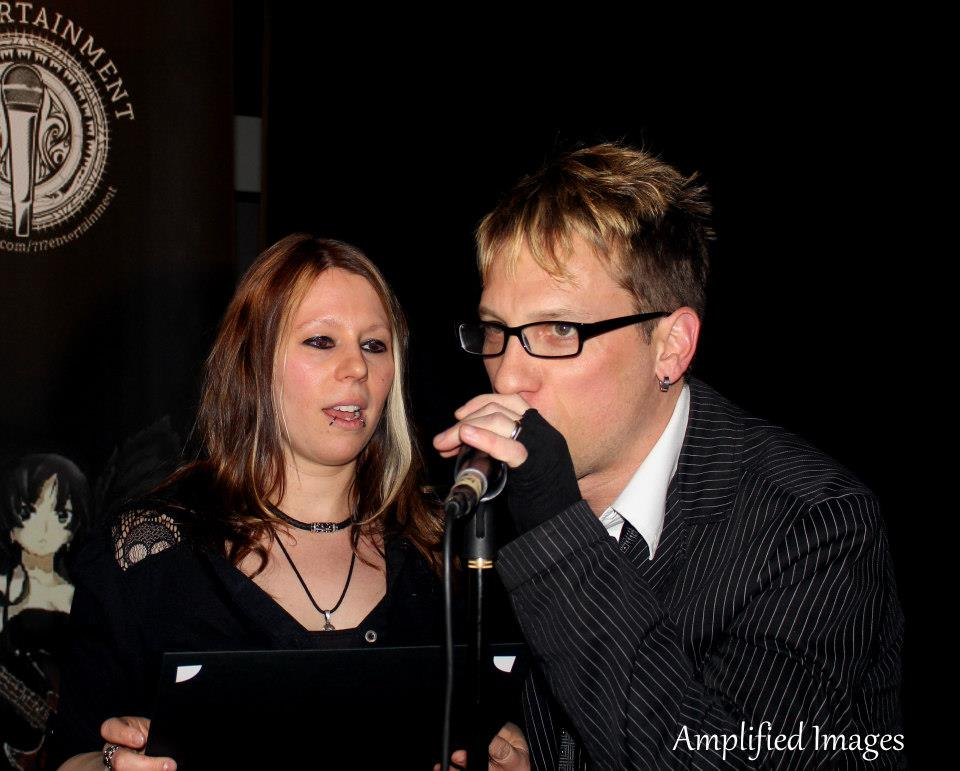 Ladyskullshine & Brad Cox present an award at the show.  *Photo Credit: Amplified Images