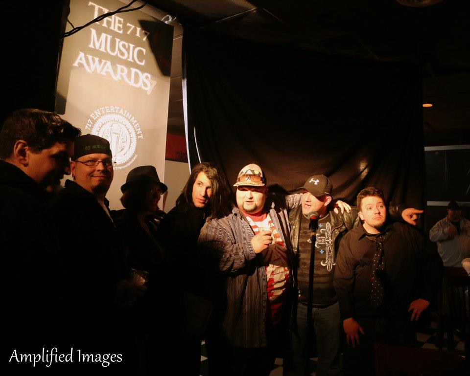 7th Layer accepts Album of the year along w/ Show creator Nick Meyers & Twisted Angels Mike Leibner