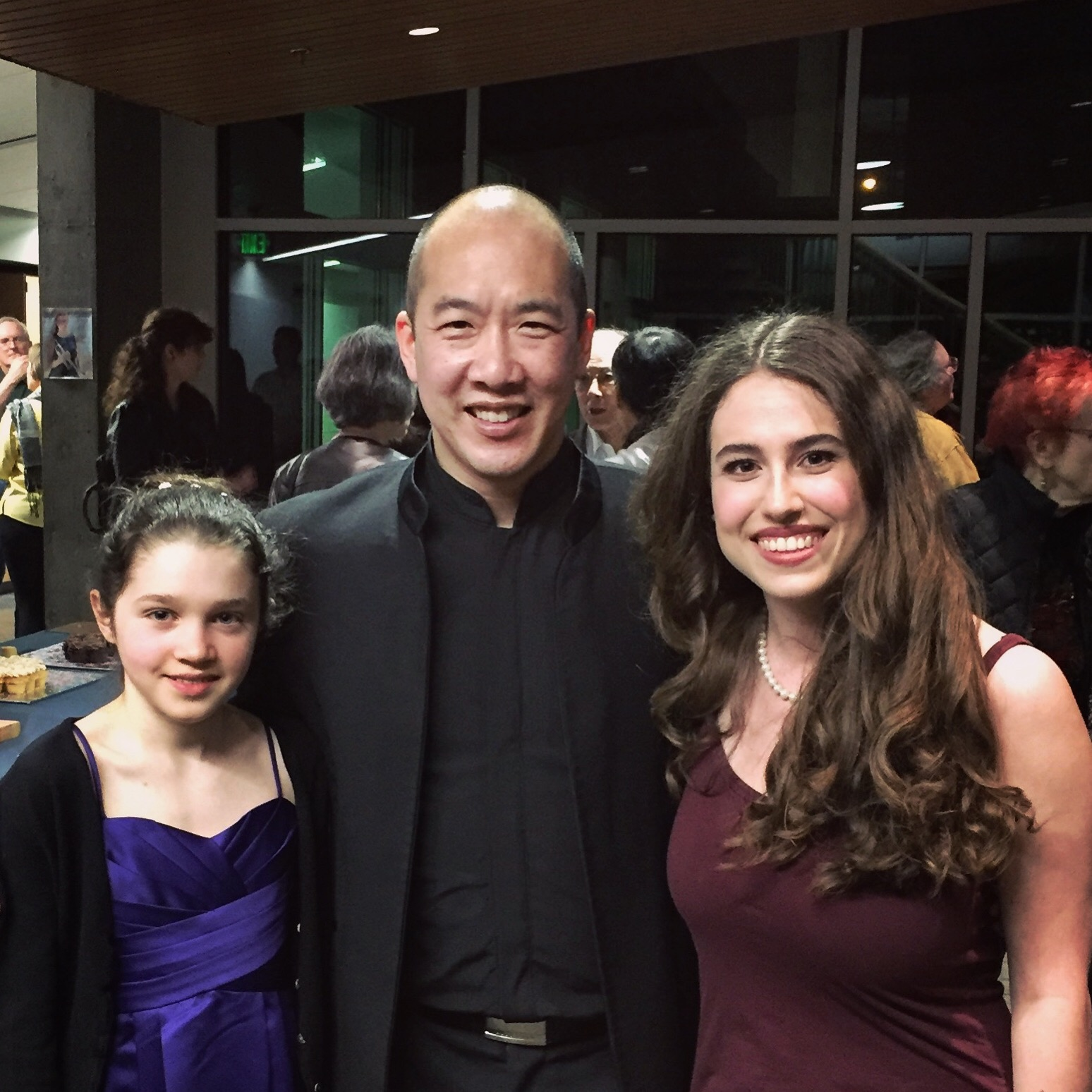 Angela Rose Padula, Morgan Paige, and Kelly Kuo - YSC 2019 Soloists with Artistic Director Kelly Kuo after the May 2019