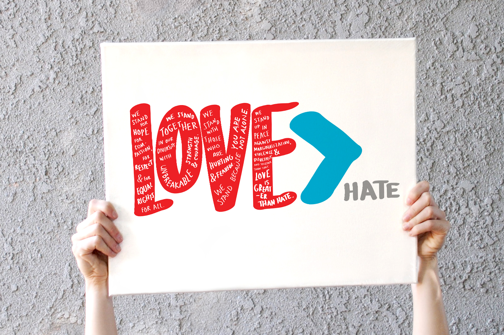 Show Love - Free downloads to print, post, share and display proudly.