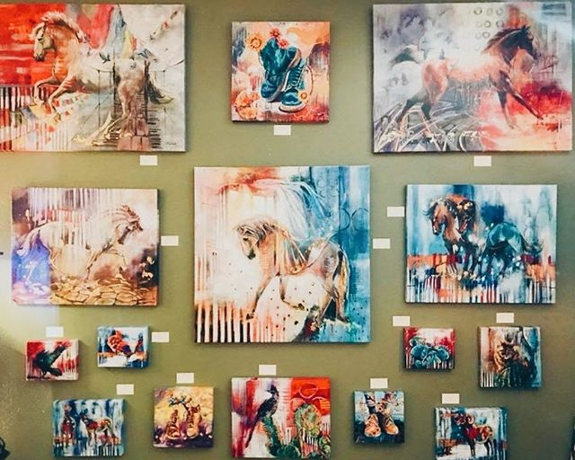 So excited to have my art work on display in @ianrussellgallery in Prescott. If you are in the area come check it out! #fineart #supportlivingartists  #arizona #artshow #oilpainting #fineartgallery #galleryartist