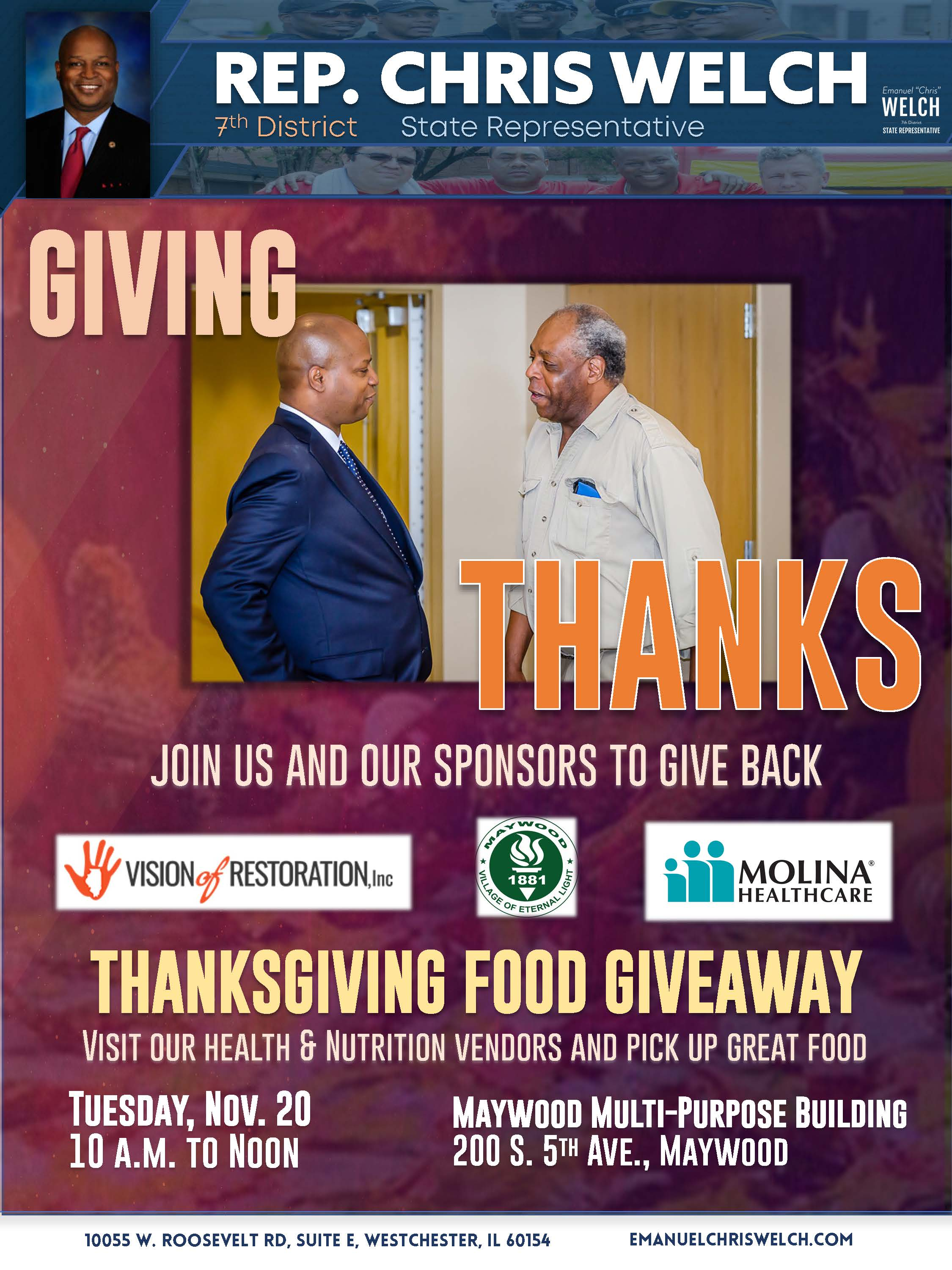 Rep. Welch Thanksgiving giveaway flyer -- October 2018.jpg