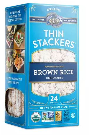 These rice crackers are great with some avocado, nut butter, or even smoked salmon. Get creative.