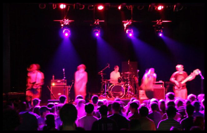 Hazy live shot from the CD Release show in Baton Rouge at The Varsity Theatre