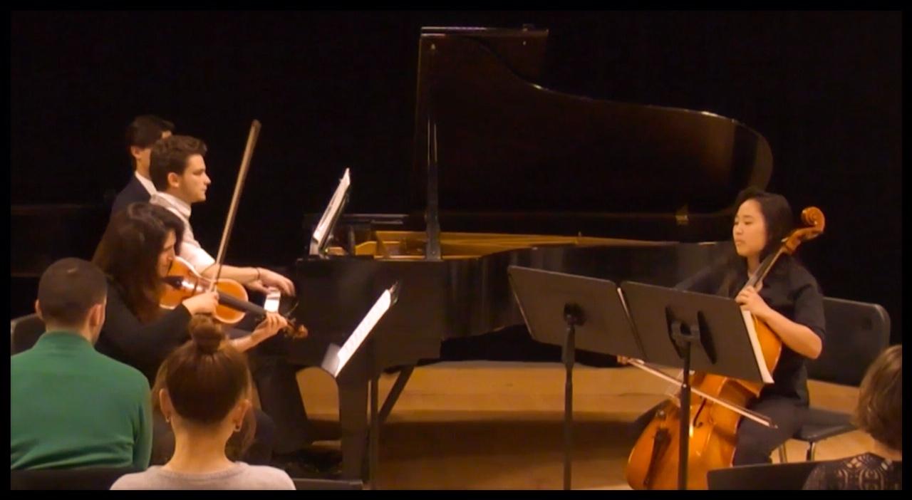 """Piano Trio performing my piece """"Nova Scotia"""""""