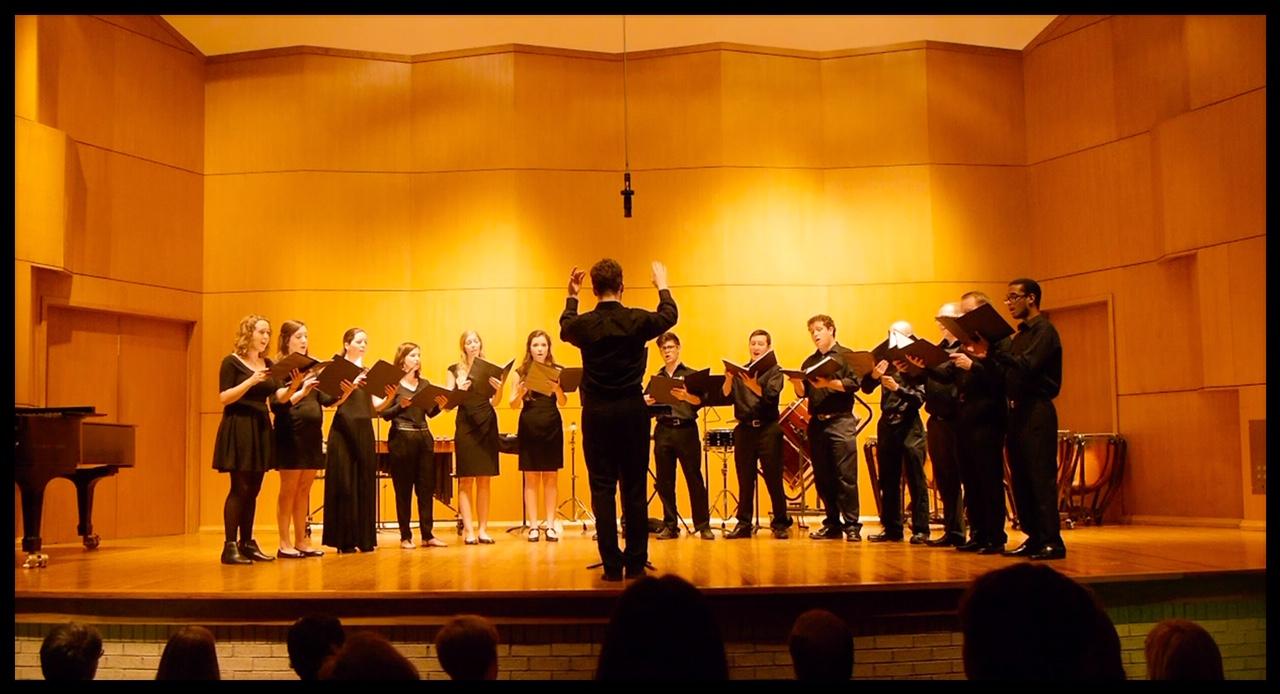 The choir under the direction of Matt Taylor