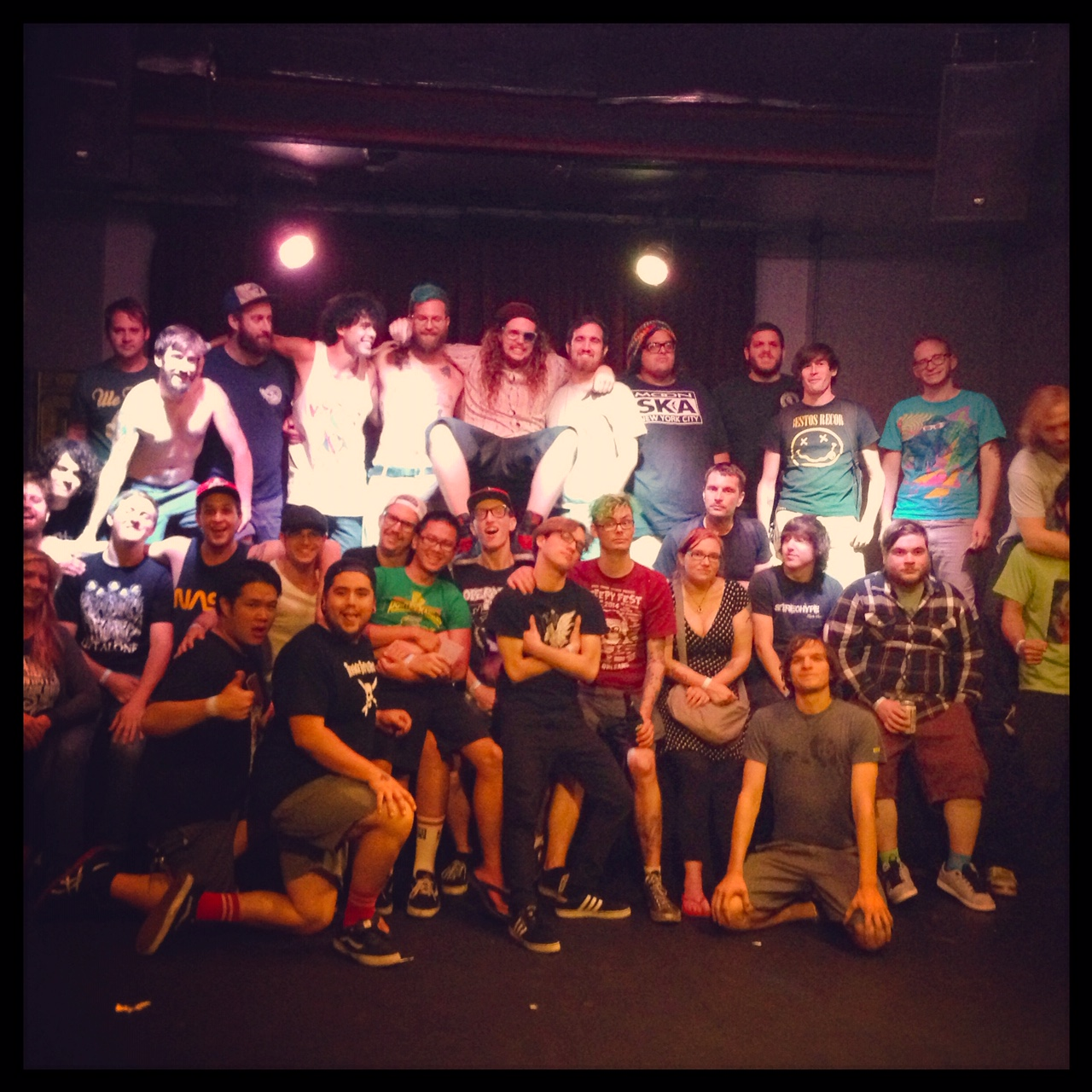 All 5 bands and crew after the Denver show of the tour