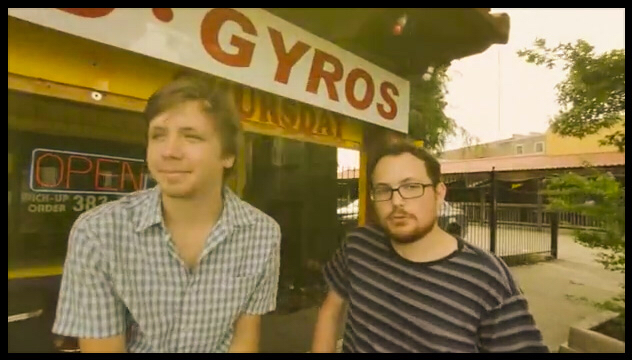 Still shot of Chris and Aidan from the final cut of the video