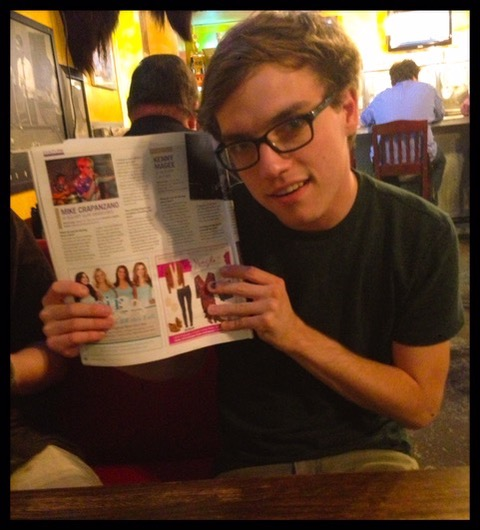 Me posing with a magazine interview I did in promotion of a show in 2013