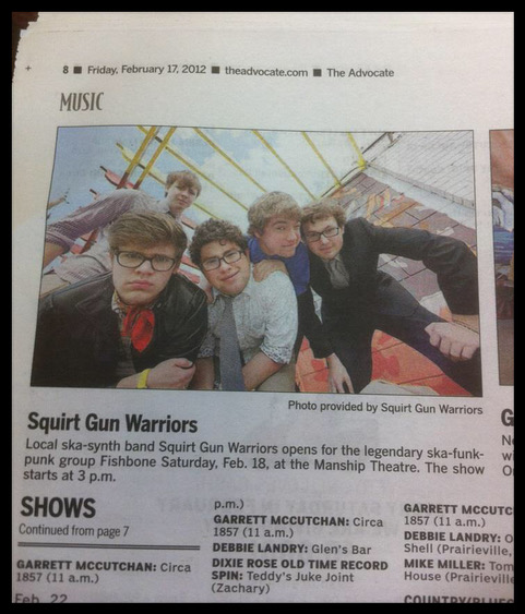A local newspaper spot promoting our show opening up for Fishbone in 2012