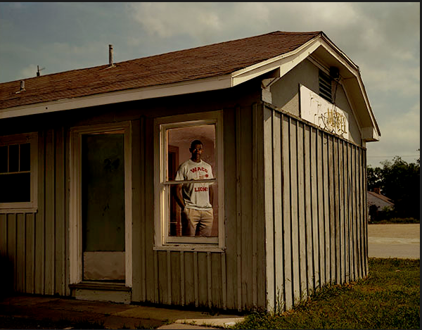 Calvin Washington at theC&E Motel, Room No. 24, Waco, Texas, where an informant claimed to have heard him confess. Washington served 13 years of a life sentence for murder he did not commit. Photo: Taryn Simon, The Innocents. (Click on image for link to Simon's website.) -