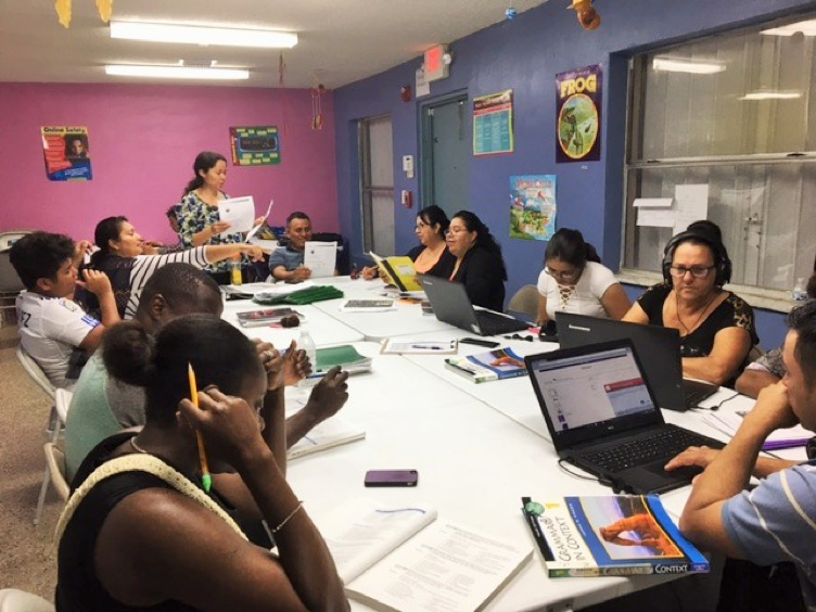 MDCPS/ESOL PROGRAM   The Purpose of the MDCPS/ESOL Program is so that Spanish speaking parents can learn English so they can communicate better with their children, help their children with daily activities, and have better job opportunities. The class is now given by Ms. Maria Avonce.  .