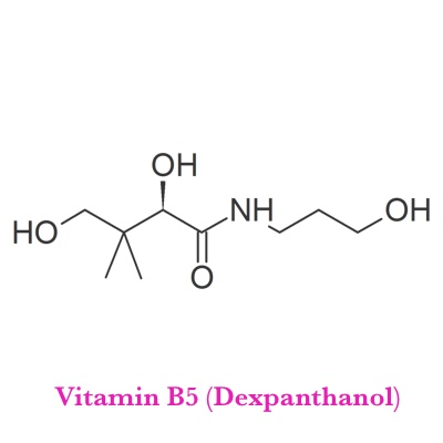 Vitamin B5 (Dexpanthanol)   What It Does?   RBC production, production of Sex and Stress related Hormones, Immune Function, Carbohydrate and Fat Metabolism, synergizes with of other B vitamins activity   What It's Good For?   Stress tolerance, Hormone Production, Wound Healing, Skin Problems, Weight Loss, Fatigue