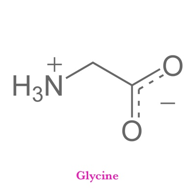 Glycine   What It Does?   Creation of muscle tissue and generation of energy from glucose, helps construct normal DNA/RNA, important inhibitory neurotransmitter   What It's Good For?   Tissue repair, Hypoglycemia, Anemia, Hyperactivity, Anxiety, Insomnia