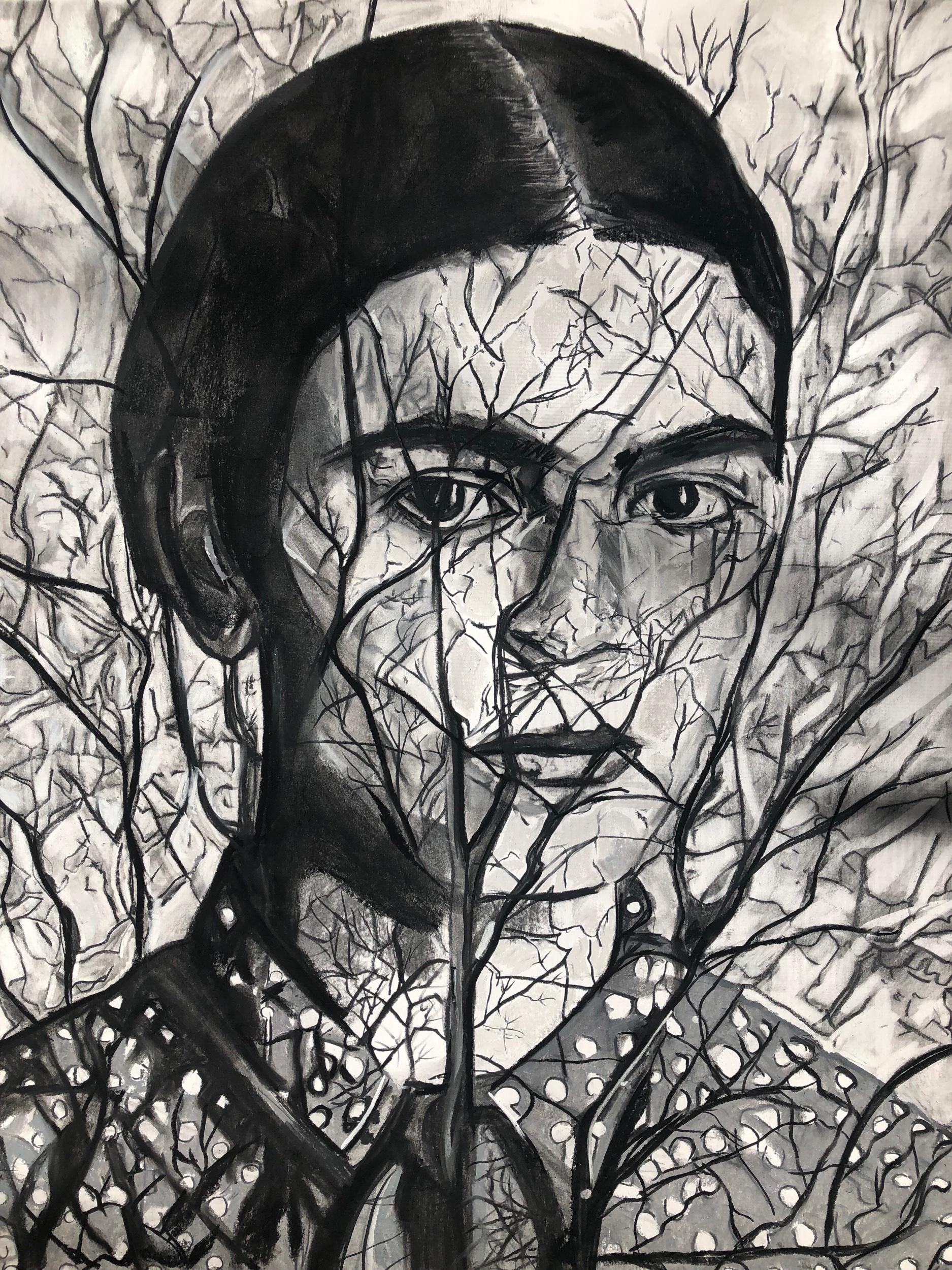 """Frida con arbol sin vida"""