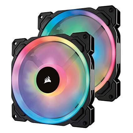 Corsair LL Series LL140 RGB 140mm - 2 Fan Pack w/ Lighting Node Pro - $79.95 - $20.04 off or 20%