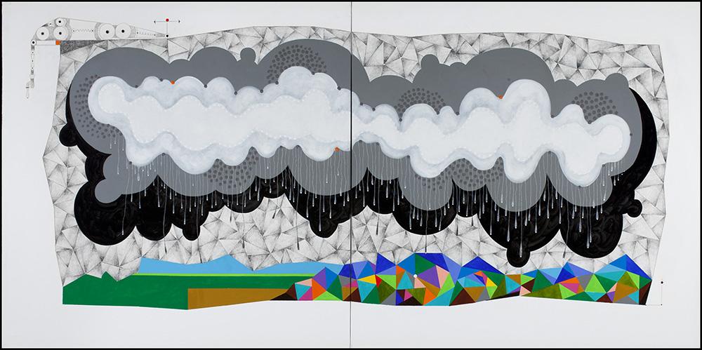 60-2012 %22RAINING CLOUD%22 48x96%22 acrylic, pencil on canvas  copy 2.jpg