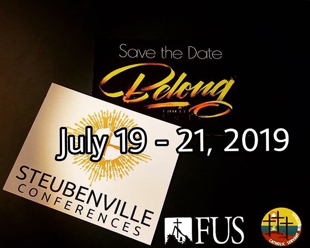 Steubenville Sign-Ups are happening!  If you are graduating 8th grade or in high school this year check this out.  These 3 days could impact the rest of your life!  https://www.stcharlesomaha.org/steubenville2019