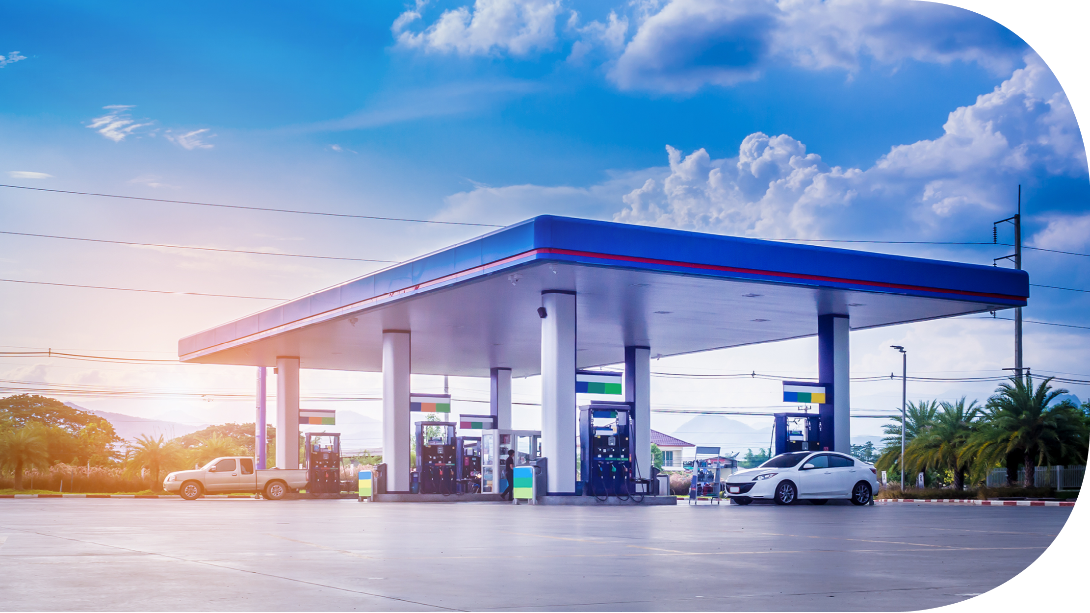 Mobility - Service stations - Over the past 20 years we have built a profound knowledge of most technical systems used in service stations. We provide electrical and mechanical installation and maintenance services.