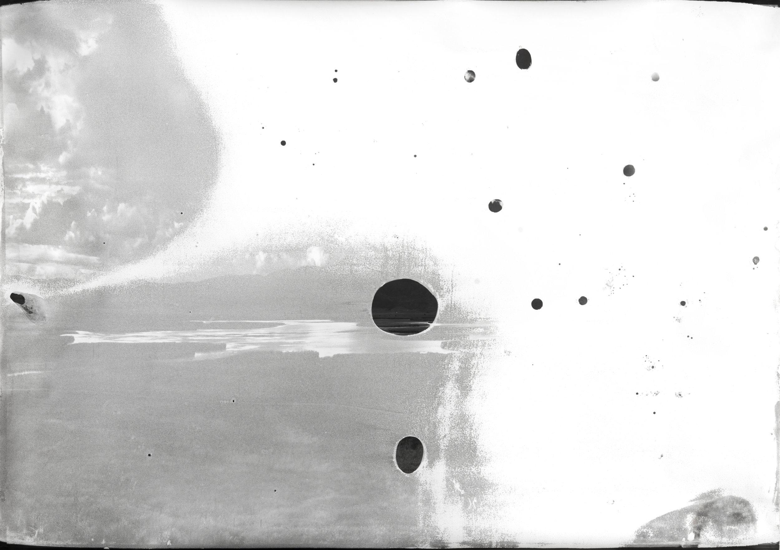 Grays Lake, ID BW A9  2013  chromogenic print soaked in Grays Lake water  42 x 60 inches