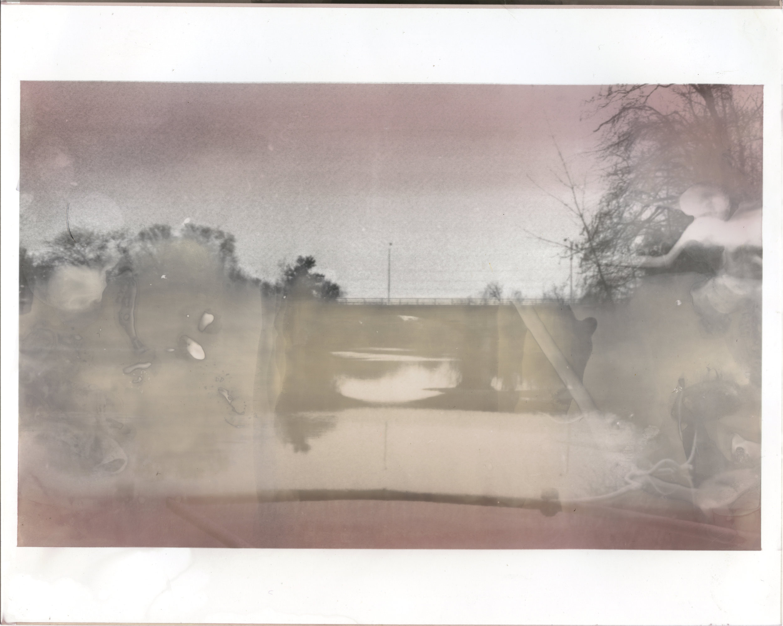 Bridge Over Flint 8  2016  silver gelatin print developed with Flint, Michigan tap water,  vitamin C, bleach, and wine  8 x 10 inches