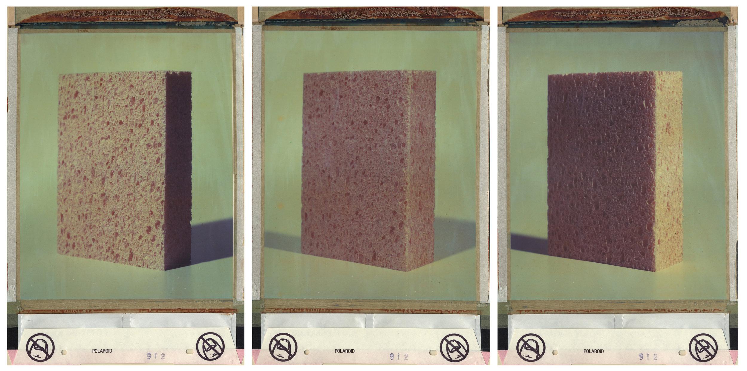 Polaroid L08993639TA  2015  triptych, 8 x 10 color polaroid film  13 x 8 1/2 inches each panel, 13 x 25 ½ inches