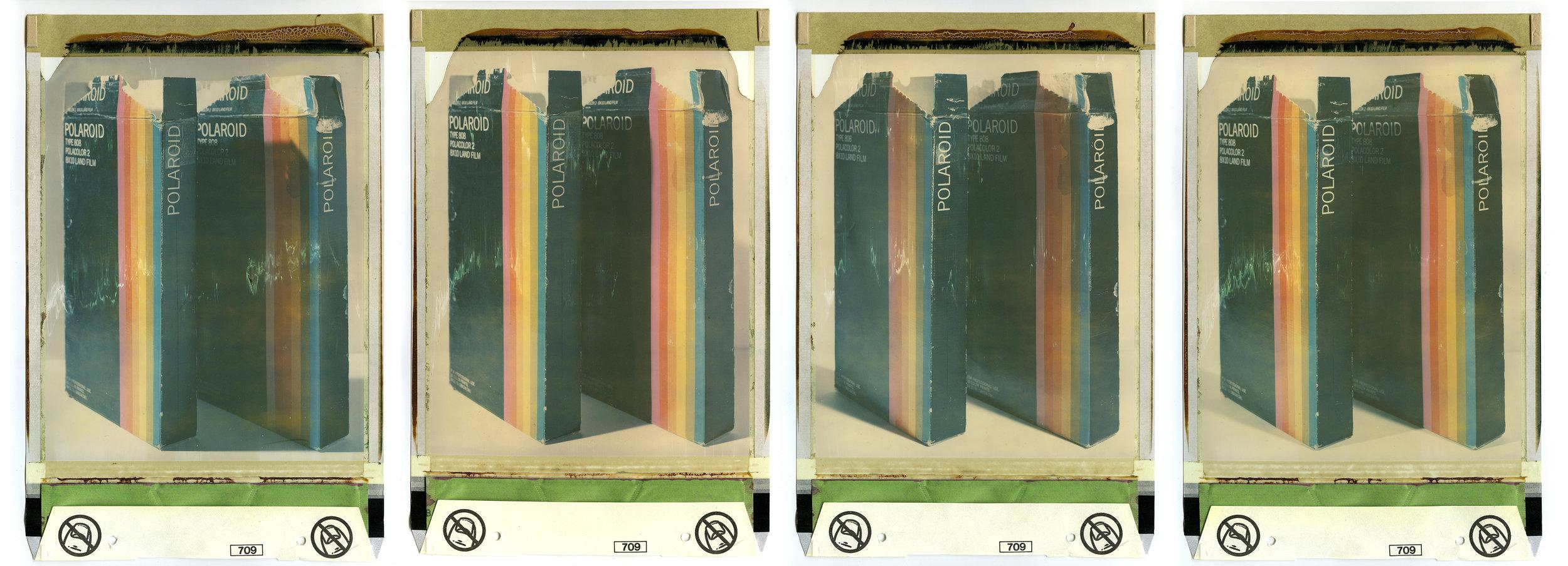 A835190387728B, A835190387728A, A835190387728C, A835190387728D  2014  8 x 10 color polaroid film  13 x 8 1/2 inches