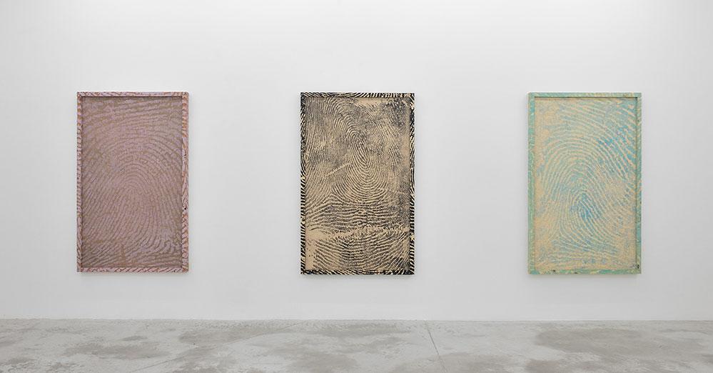 Woodblocks Jim Shaw, Catherine Opie, John Baldessari  2014  Galerie Praz-Delavallade