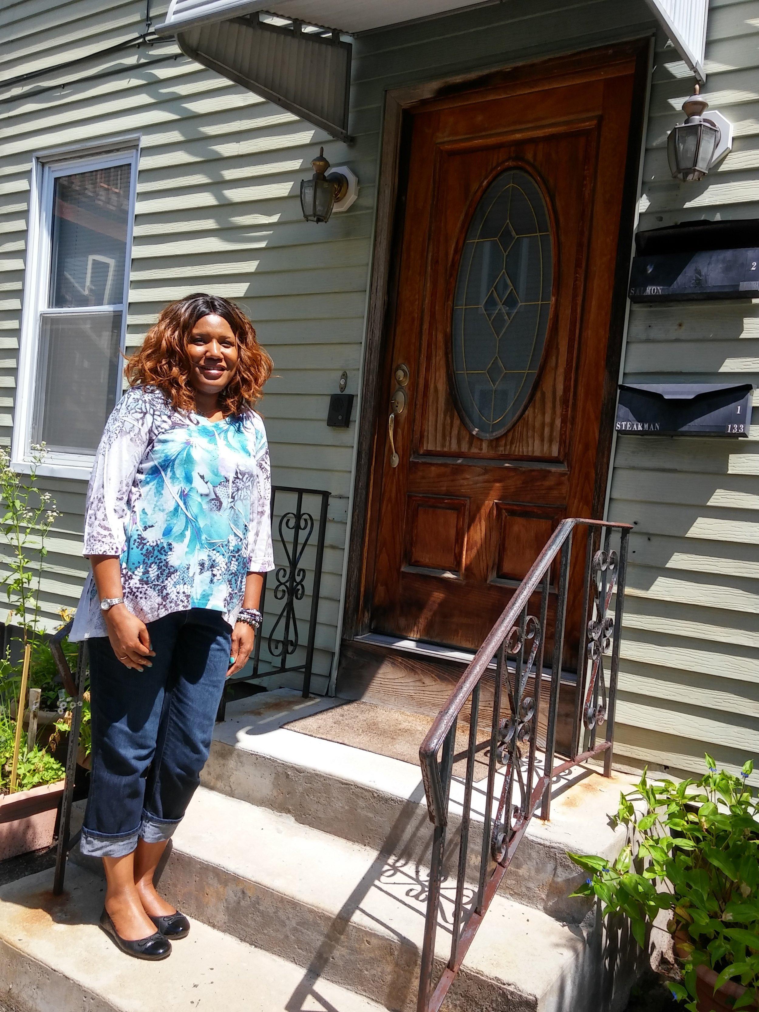 Pine Street happy homeowner