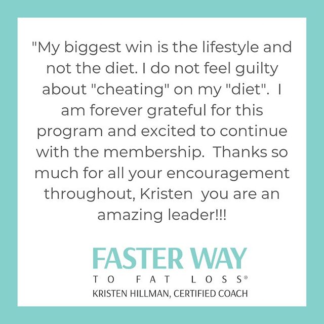 No diets here.  Just learning how to live a healthy lifestyle that is actually live-able!  Oh, and focusing on always making Progress.  No wagons to fall off.  Just steady progress.⠀ .⠀ I love that my clients love the FASTer Way as much as I do!  Stay tuned.. some big announcements are coming soon! ⠀ .⠀ .⠀ .⠀ #fasterwaytofatloss #clientwin #nomorediets #healthylifestyle #ditchthewagon #falloffthewagon