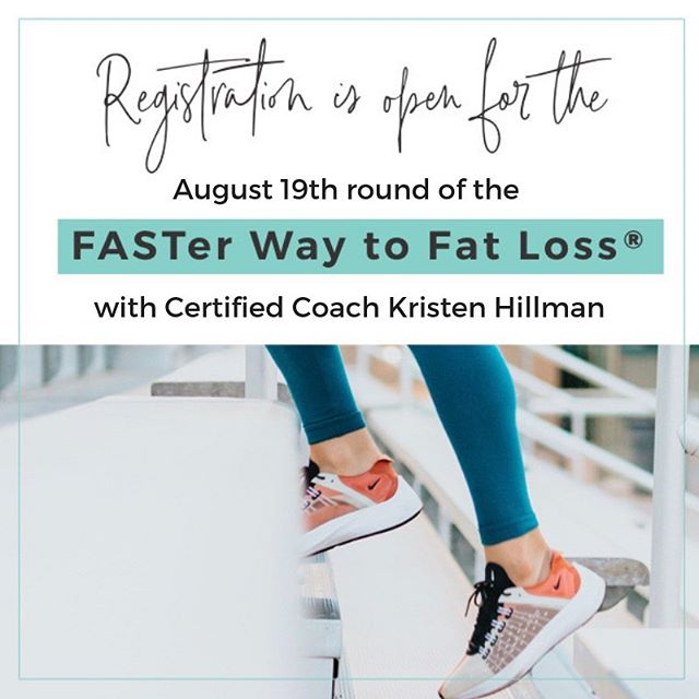 THIS is it!  You've been waiting for my next round of FASTer Way, and Registration opens TODAY.⠀ .⠀ Summer break is over, stop with the excuses, and let's get to tackling your goals this fall.  With registration for the August 19th round of FASTer Way you will receive:⠀ *️⃣8 week experience.⠀ *️⃣ Full Digital 30 minute workouts (home, gym or low impact).⠀ *️⃣ Meal plan.⠀ *️⃣ Cutting Edge Nutrition paired with  Fitness  Strategy,⠀ *️⃣Access to Experts in Industry (RD, Naturopathic Dr, and Fitness Professionals).⠀ *️⃣ Community with a Small Group.⠀ *️⃣And Daily Accountability with ME as your FASTer Way Coach.⠀ .⠀ .⠀ Register by the link in my bio @kristen.hillman  You will immediately receive access to the FASTer Way Portal, and  be looking for an email from ME as your coach!⠀ .⠀ Let's DO this!