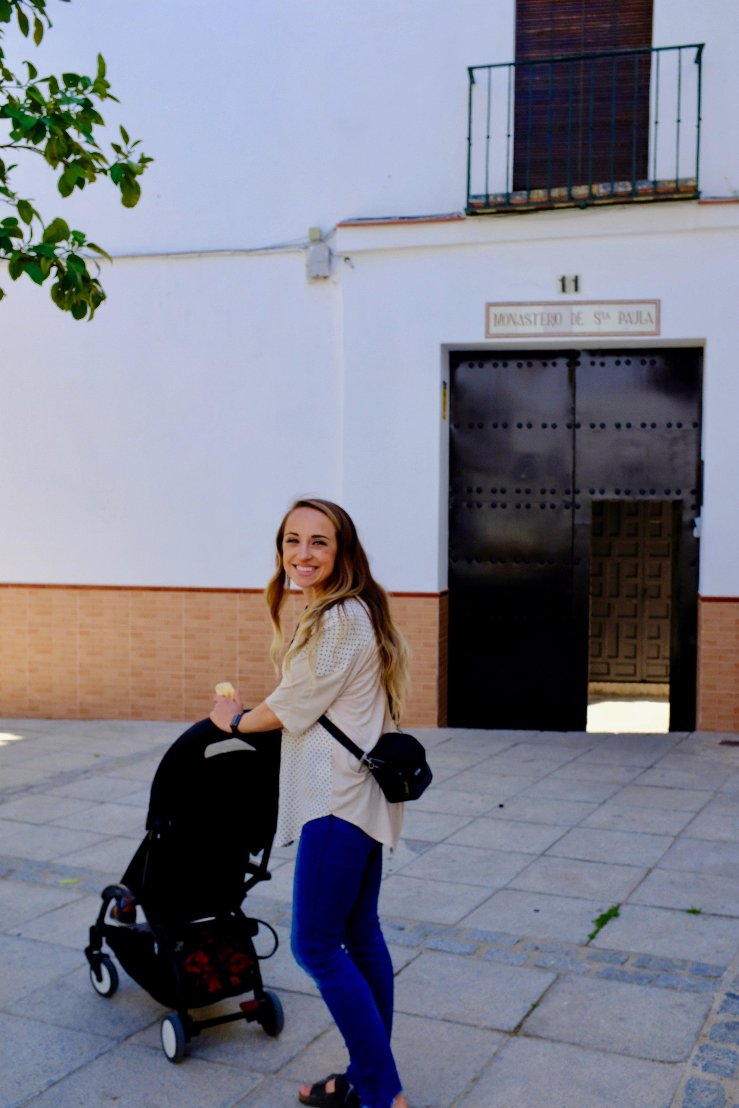Visiting Convento de Santa Paula in Seville, Spain.