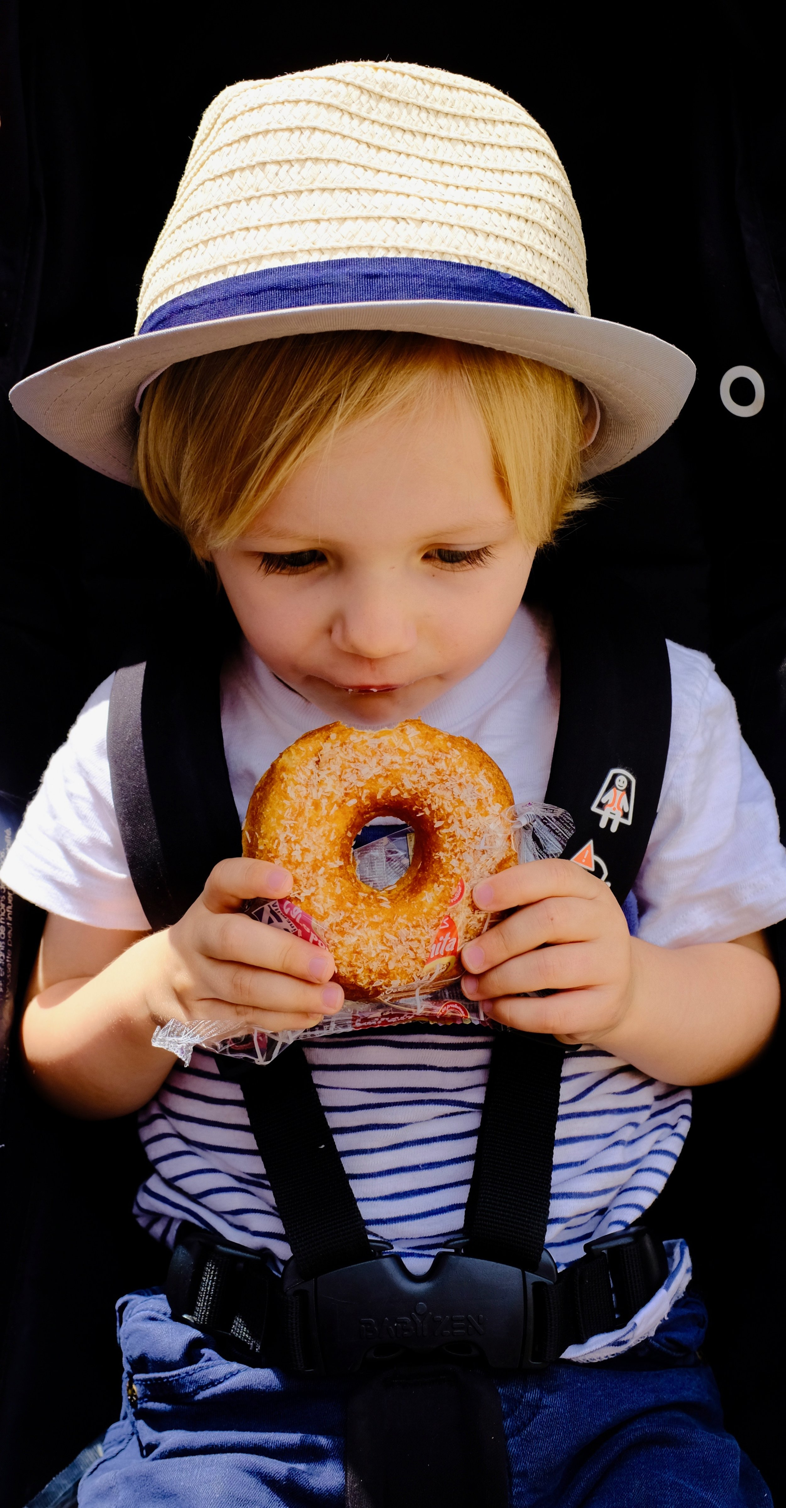Eating a donut in Tétouan, Morocco.