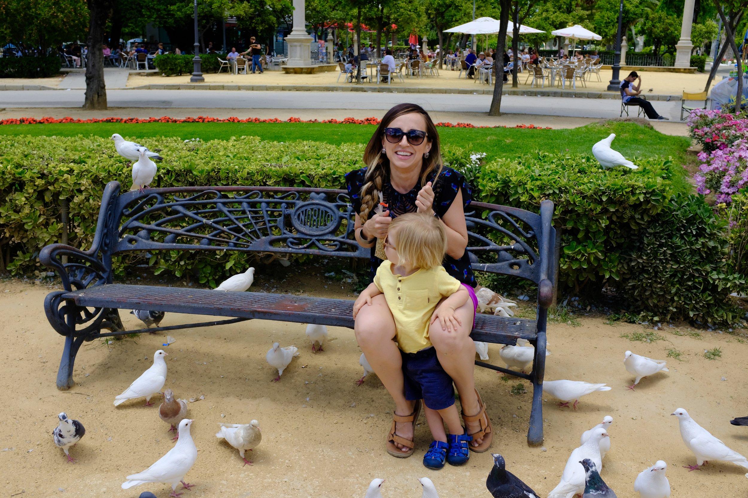 Pigeon Park Plaza de America_City Nibbler_Seville