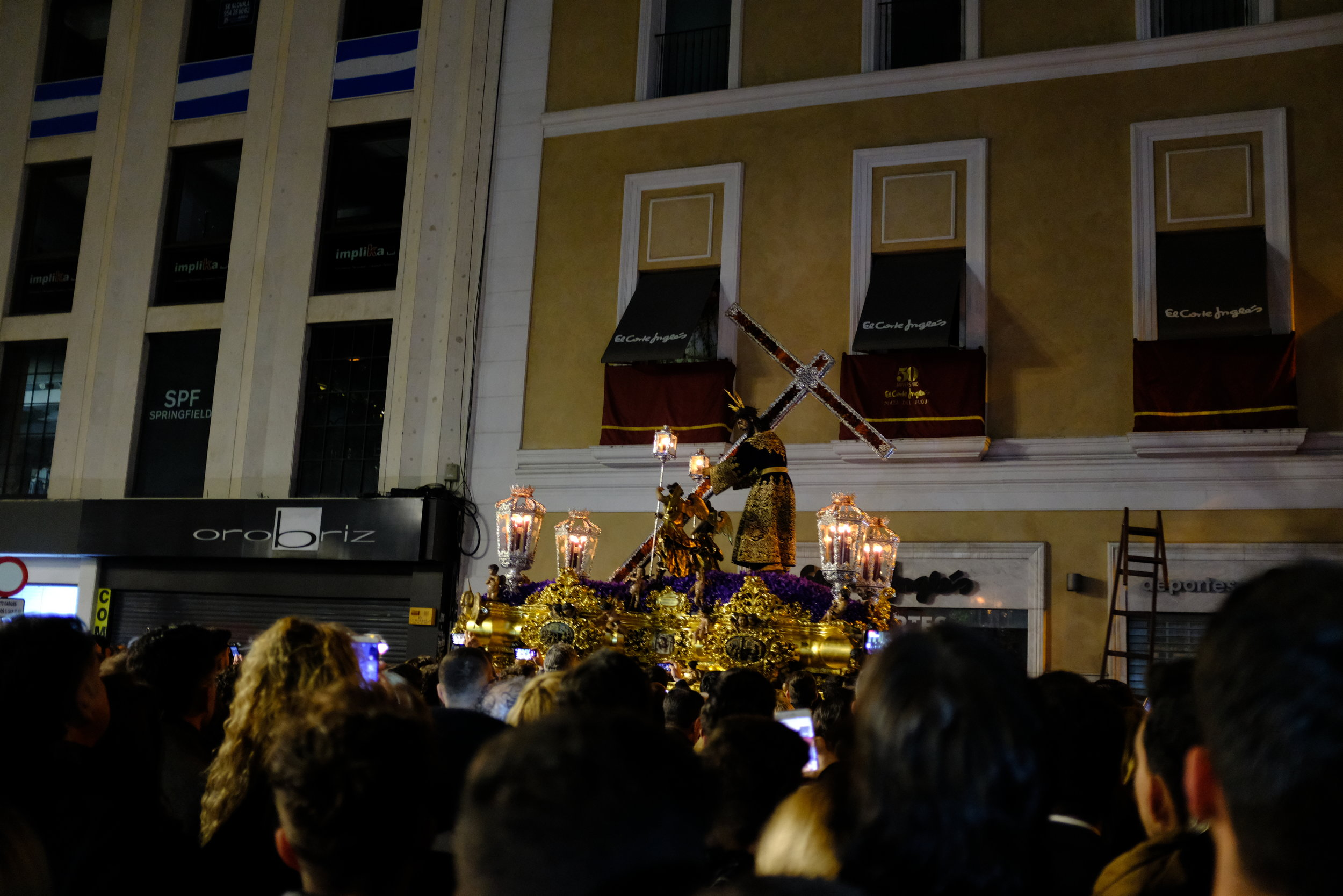"""El Silencio,"" the silent procession of Seville's Semana Santa."