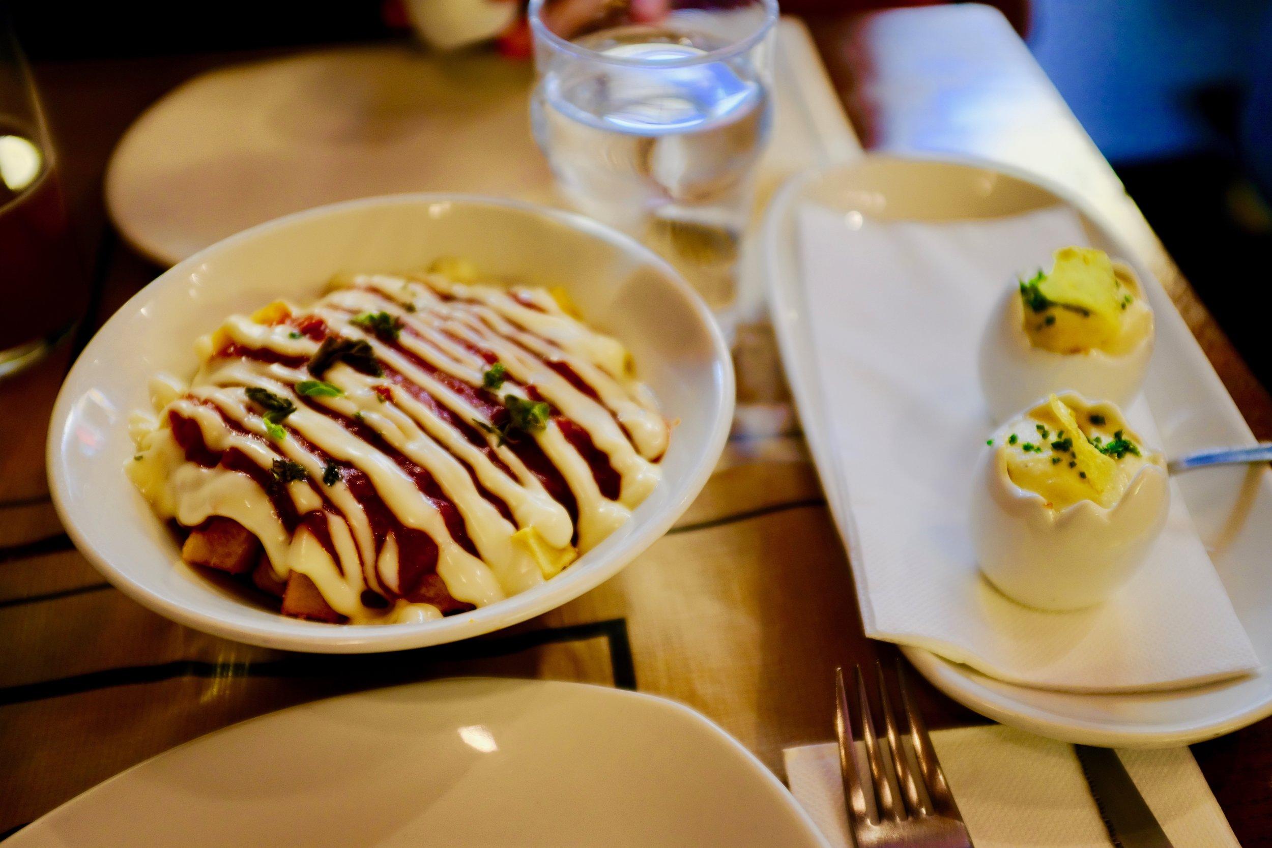 Patatas Bravas and a modern twist of Tortillas de Patatas at Sal Gorda.