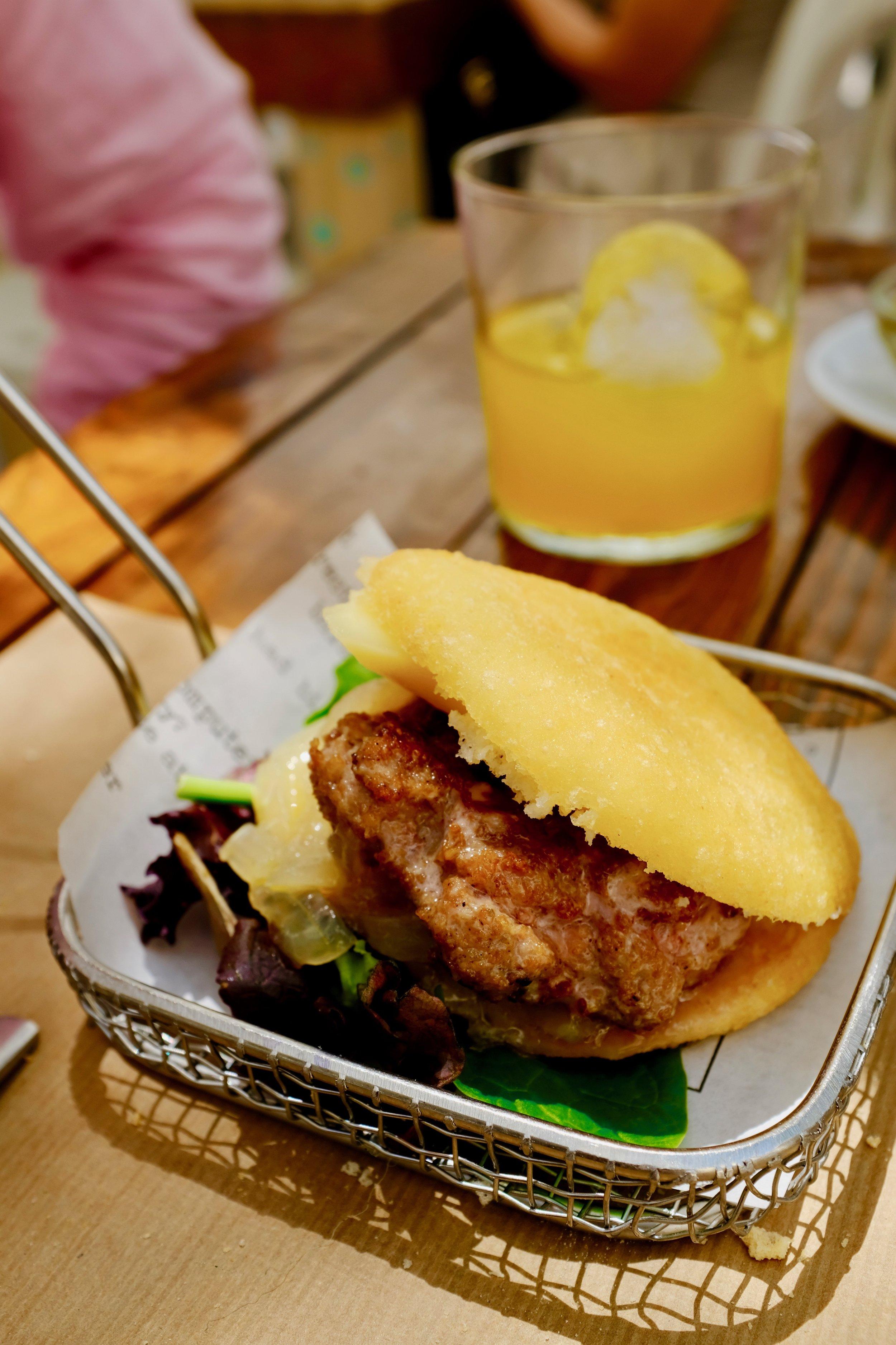 Delicious burger tapa at La Chala.