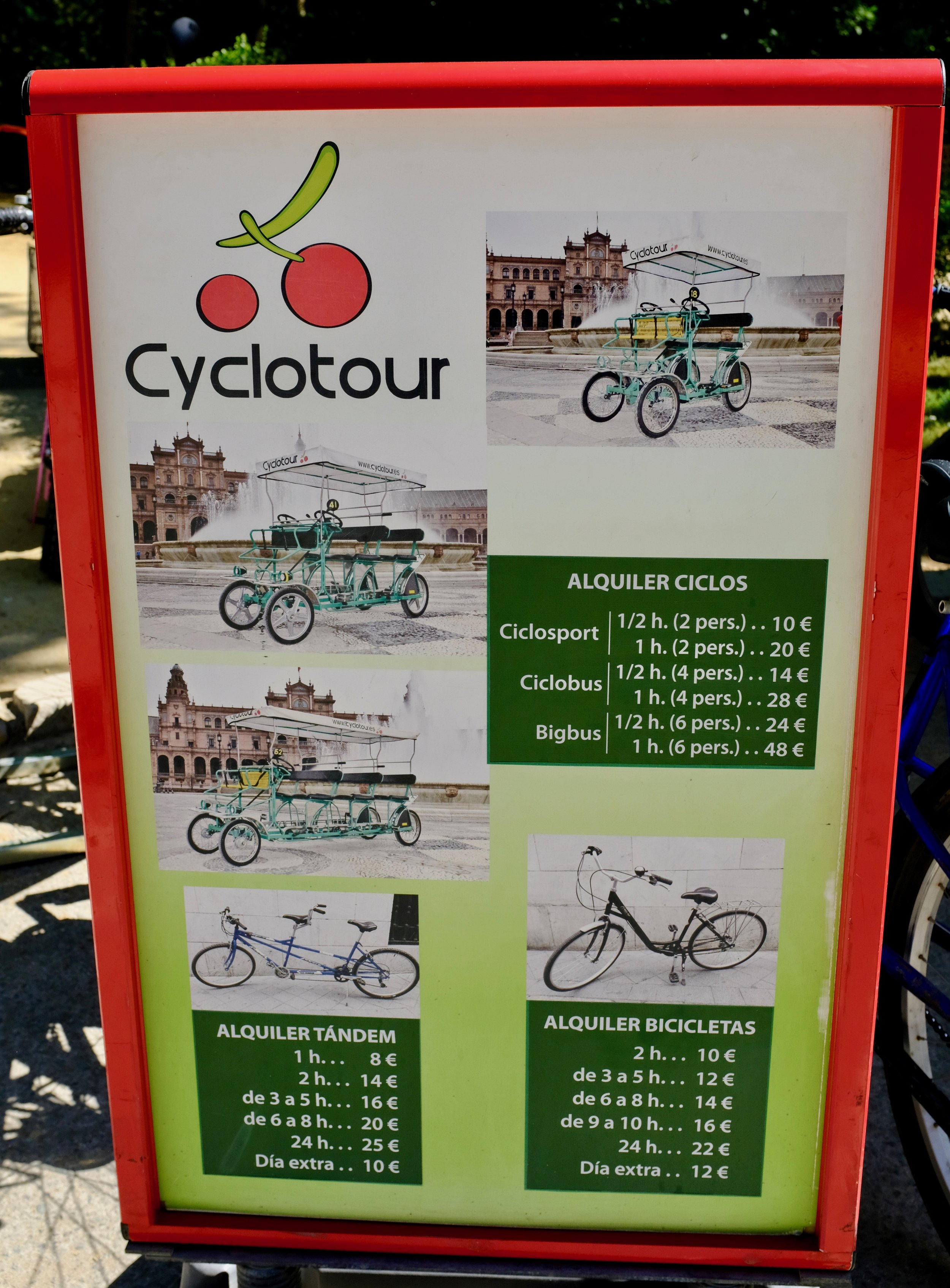 Cyclotour Prices and Renting Options