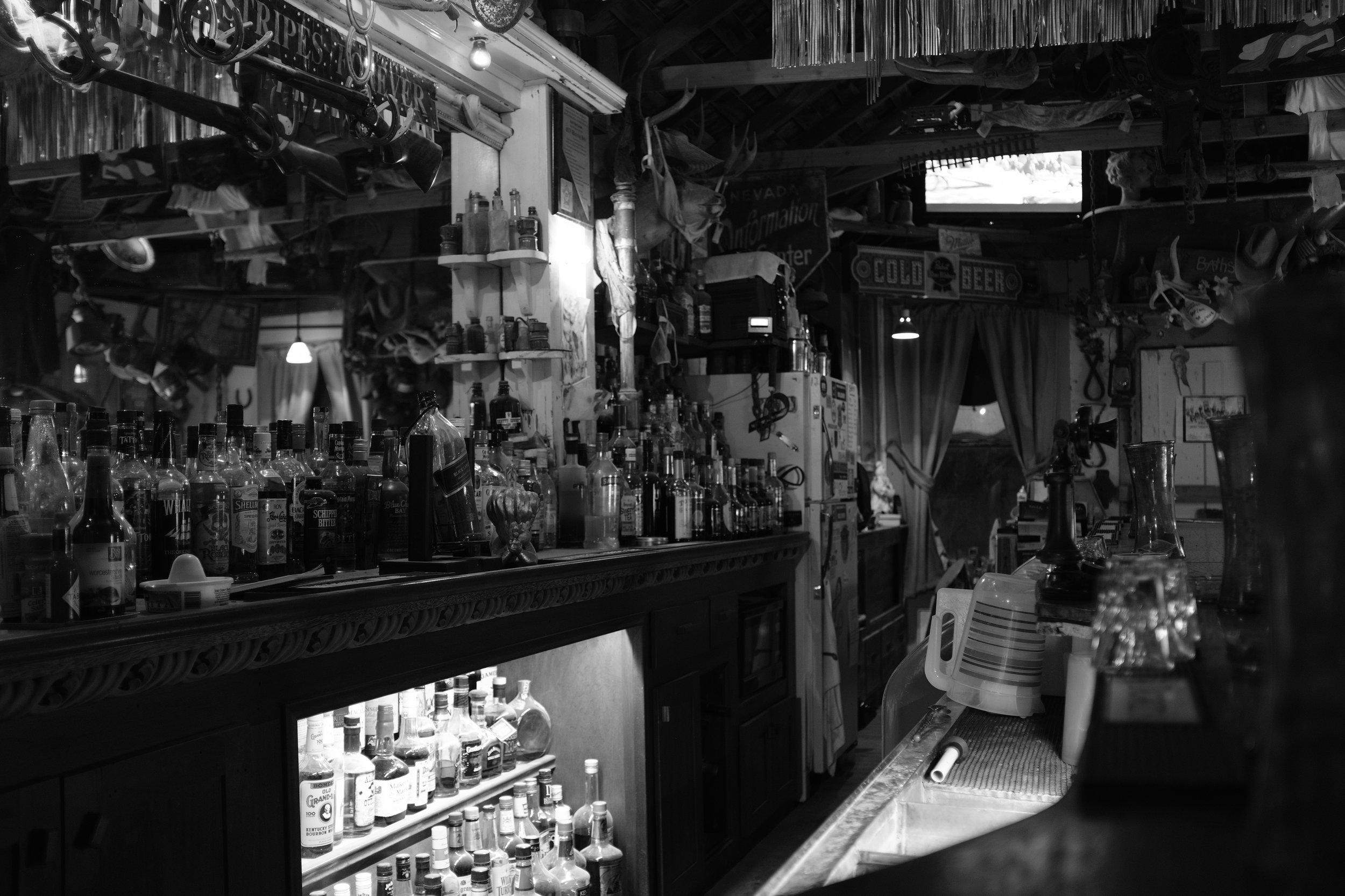 Inside of the Gold Point Saloon