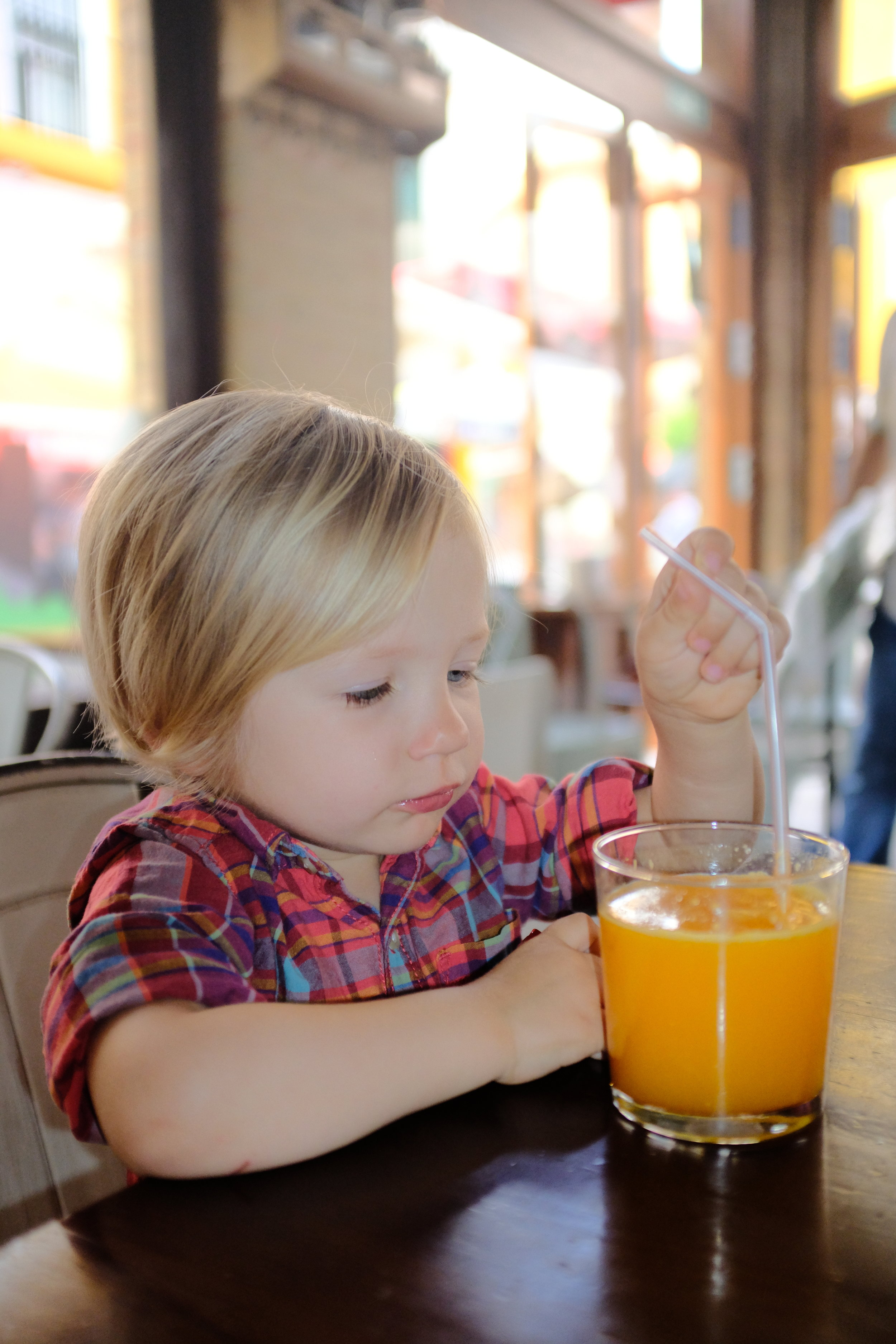 Jimmy loves the fresh squeezed orange juice from Seville.