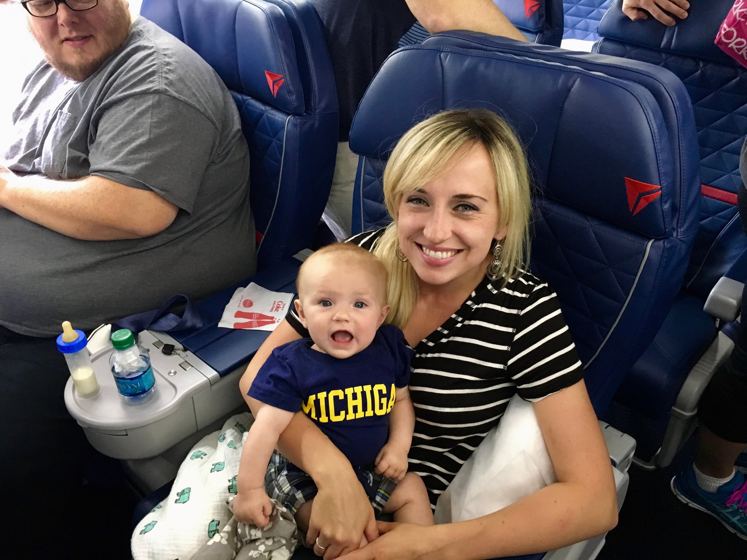 Jimmy's First Flight from Michigan to Idaho to go see Grandma and Grandpa.