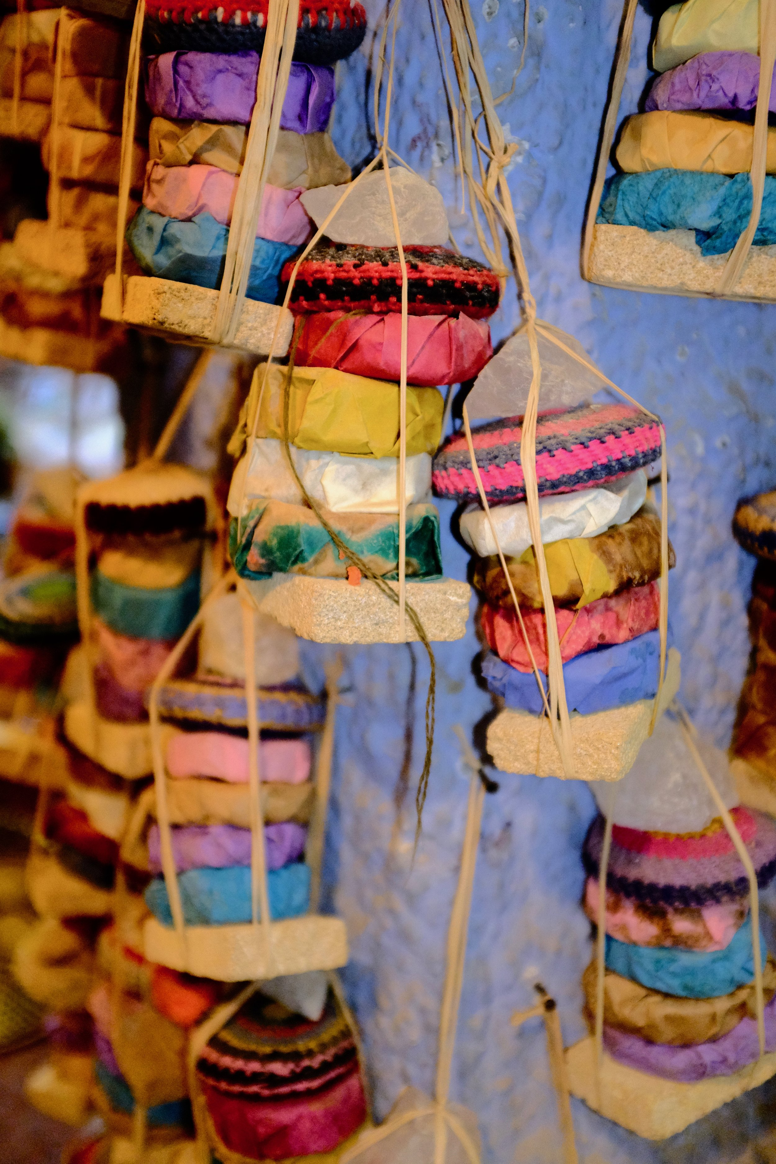 Handmade soaps in Chefchaouen, Morocco.