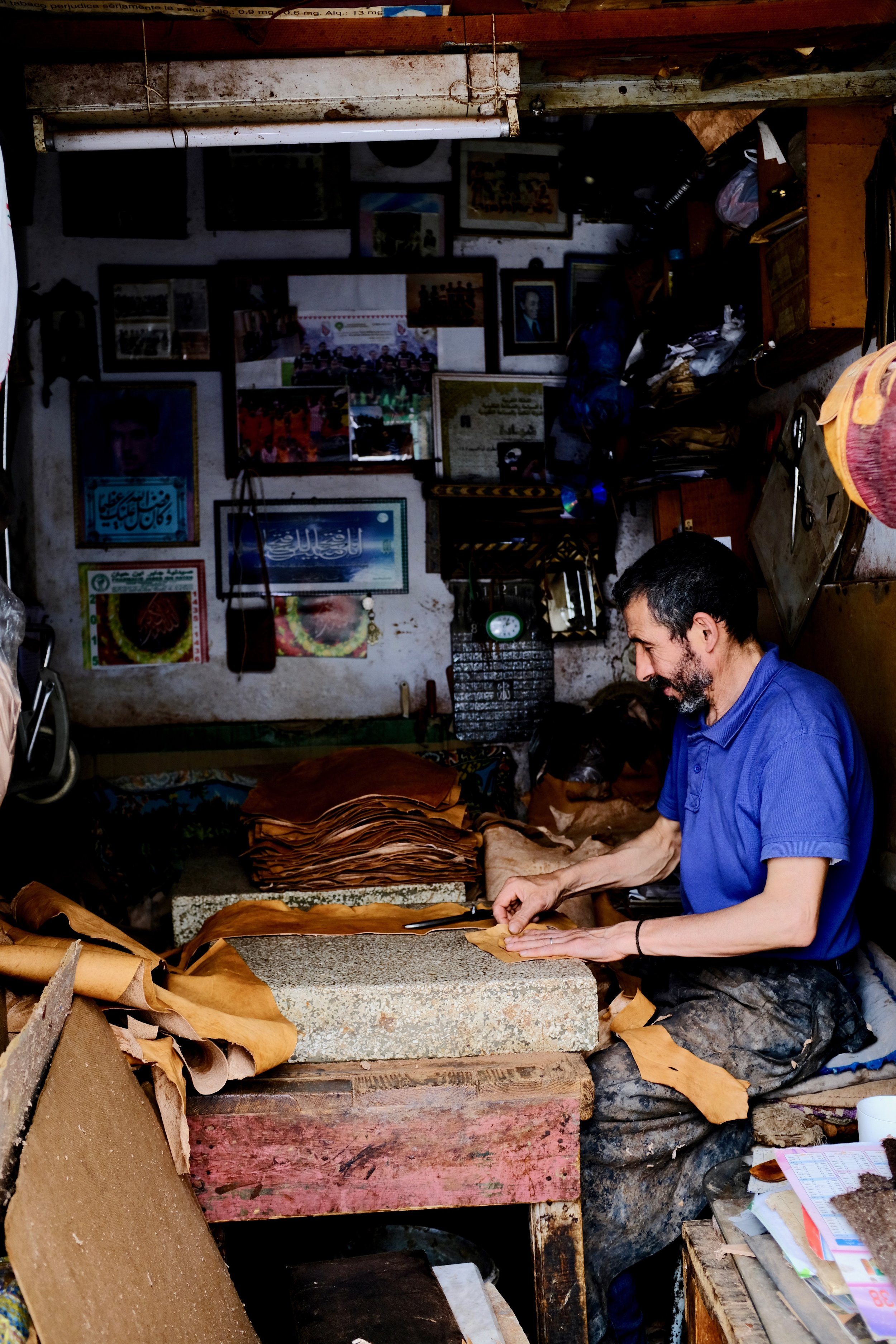 After the leather goes to the tanneries, it is used by local artisans to make beautiful leather products.