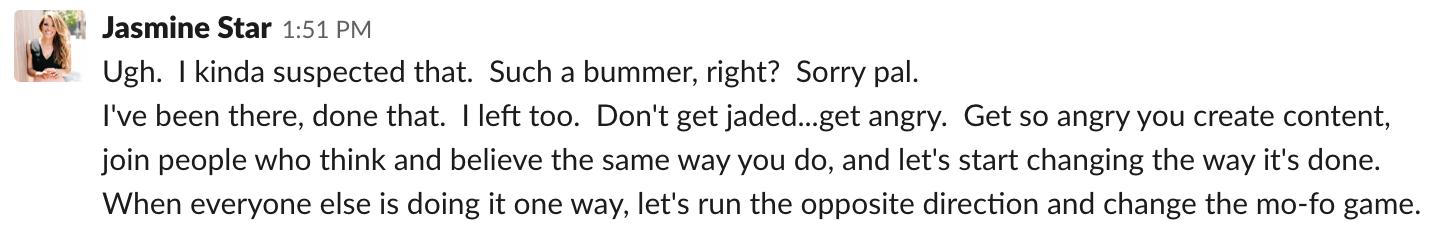 jasmine star advice