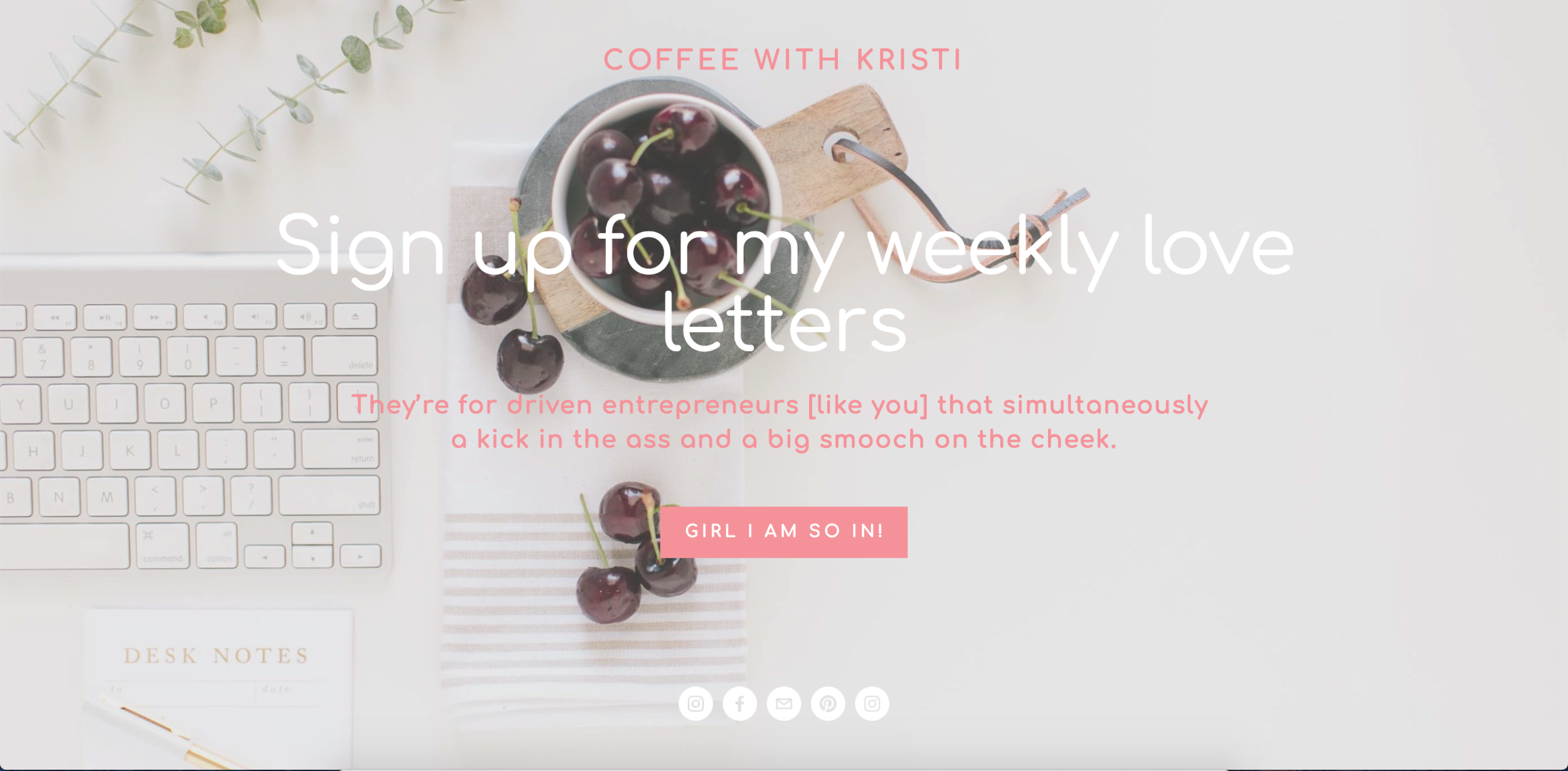 If you'd like more content like this straight to your inbox every single Tuesday morning,  subscribe  to receive my weekly love letters. I can't WAIT to be BFF's!