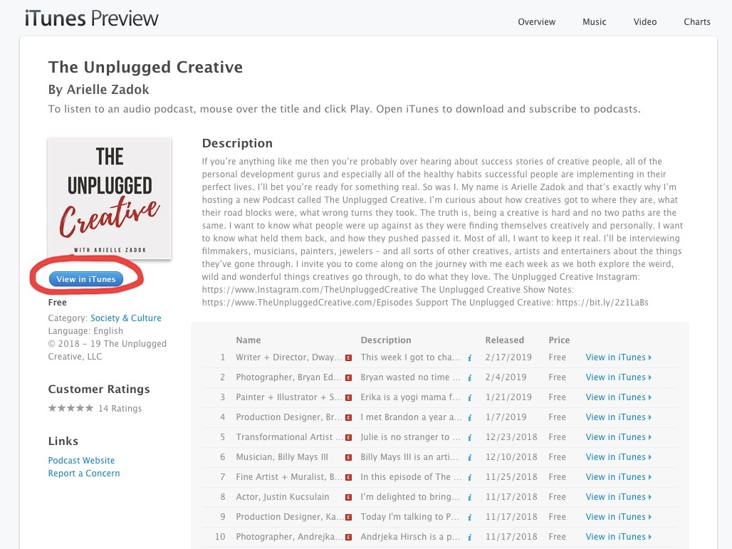 How To Leave An iTunes Review for The Unplugged Creative Podcast