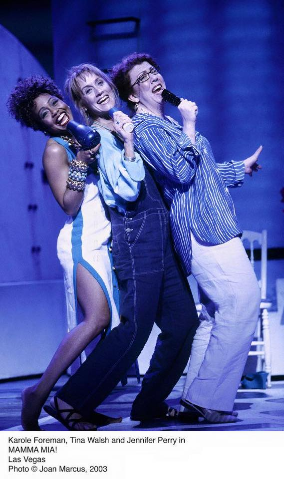 "Performing in ""Mama Mia"" with Tina Walsh and Jennifer Perry"