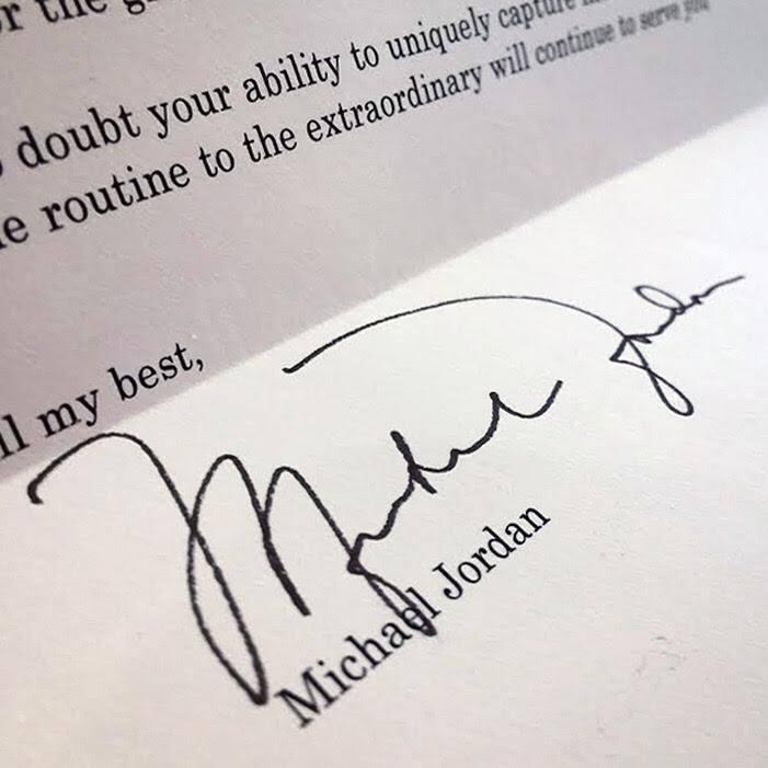 A Letter from the legend - Michael Jordan