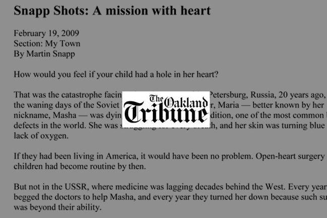 Snapp Shots: A mission with heart